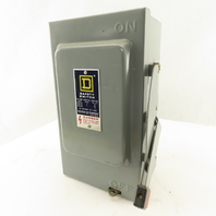 Square D HU-361 30A 600V 3Ph 3 Pole  Non Fused Safety Disconnect