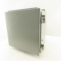 "Wiegmann B101006CH 10"" x 10"" x 6"" Hinged Door Electrical Enclosure W/ Back Plate"