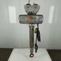 Cm Lodestar RR Electric Chain Hoist 2 Ton 16FPM 17' Lift 208-230/460V W/Trolley
