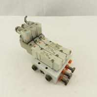 SMC SY5140-5DZ Single Solenoid 2 Position Pneumatic Valve Bank 24VDC