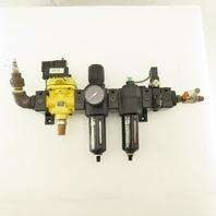 Norgren P74C-NAD-PJA 1/2NPT Air Line Solenoid Lock Out Filter Regulator FRL