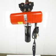 CM Lodestar L-2 Electric Chain Hoist 1 Ton 5/16FPM 2 Spd 14' Lift 460V W/Trolley