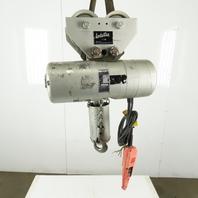 CM Lodestar L-2 Electric Chain Hoist 1 Ton 5/16FPM 2 Spd 10' Lift 460V W/Trolly