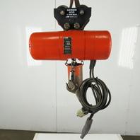 CM Lodestar Model L Electric Chain Hoist 1 Ton 16FPM 12' Lift 208-230/460V 3Ph