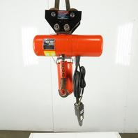 CM Lodestar Model B2 1/4 Ton Electric Chain Hoist 20' Lift 2 Speed 16/5 FPM 460V