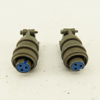 Amphenol MS3106A-10SL-3S 3 Pin Solder Cup Female Electrical Connector Lot Of 2