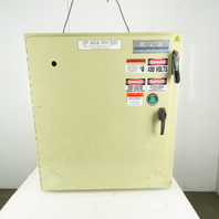 """Hoffman A42SA3808LPPL Electrical Enclosure 42x37x8"""" W/30A Fused Disconnect"""
