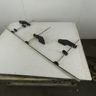 """Valu Guide Assembly 60"""" Rail W/3 Rail Guides & Clamps 18"""" Riser Rods"""