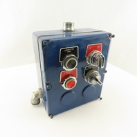 """Square D Class 9001 Type K 8 x 7 x 3"""" Electrical Enclosure Operator Switches"""