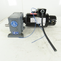 Boston Gear FWA721100B5G 100:1 Ratio 17.5RPM Output .5Hp Two Speed Gear Motor