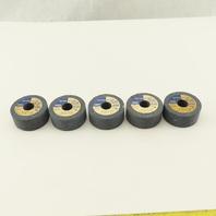 """Dresser 686421 3A 60 K6 V22 Abrasive Wheel 2"""" x 7/8"""" With 5/8"""" Arbor Lot Of 5"""