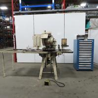 Wiedman Type R44-P Turret Punch Press 20 Station Sheetmetal Working W/Tooling