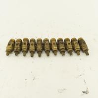 """Brass 1/4"""" NPT Pneumatic Cylinder Air Tool Speed Control Muffler Lot of 11"""
