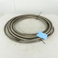 "5/8 ID x 3/4"" OD  Stainless Steel Braded PTFE Teflon Liner Fuel Hose 47'"