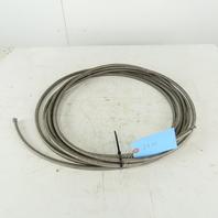 "5/16 ID x 7/16"" OD  Stainless Steel Braded PTFE Teflon Liner Fuel Hose 29'"