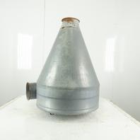 Kongskilde Galvanized Steel Cyclone Dust Collector/Aspirator Part