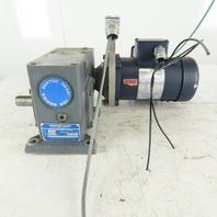 Boston Gear FWA721-100-B5-G 100:1 Ratio 17.5RPM Output 1/4Hp 90VDC Gear Motor