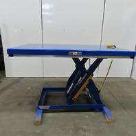 "Vestil EHLT-4872-3-43 3000LB Hydraulic Scissor Lift Table 72x48"" 460V 7 - 43"" Ht"