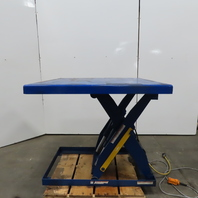 "Vestil EHLT-4848-4-43 4000LB Hydraulic Scissor Lift Table 48x48"" 460V 7 - 43"" Ht"