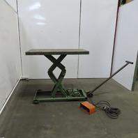 "American M-1070 2000Lb Hydraulic Scissor Lift Table 48""x24"" 115V Single Phase"