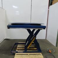 "Vestil EHLT-4848-3-43 3000LB Hydraulic Scissor Lift Turn Table 48""x48"" 230/460V"