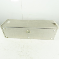 """27"""" x 8"""" x 8"""" Aluminum Electrical Wire Way Box Enclosure W/ Back Plate"""