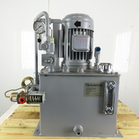 Exotic Automation 5Hp 230/460V 3Ph 15 Gallon Hydraulic Power Unit