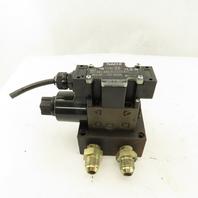 Nachi SS-G01-A3X-R-C115-E31 3 Way Single Solenoid Hydraulic Valve 115V Coil