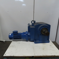 Sumitomo KVHMS3-111DAR-K5-B-390 3Hp Gear Motor 390:1 Ratio 4.49 RPM 460V 3Ph