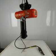 CM Lodestar L2 Electric Chain Hoist 1Ton 5/16FPM 2 Speed 20' Lift 460V W/Trolley