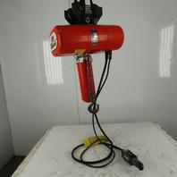 CM Lodestar L2 Electric Chain Hoist 1Ton 5/16FPM 2 Speed 15' Lift 460V W/Trolley