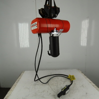 CM Lodestar L2 Electric Chain Hoist 1Ton 5/16FPM 2 Speed 10' Lift 460V W/Trolley