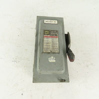 Square D H361 30A 600V AC/DC Fused Safety Disconnect Switch