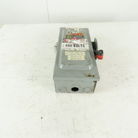 Square D HU361 30A 600V AC/DC Non-Fused Safety Disconnect Switch