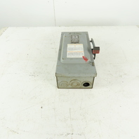 Square D H361 30A 600VAC 20Hp MAX Fused Safety Disconnect Switch