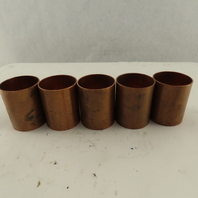 """Mueller 2"""" Slip Sweat Coupling Wrot Copper Dimpled 2-3/4"""" Wide Lot Of 5"""