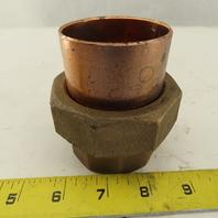 """Nibco 2"""" Cast Copper Slip Sweat Copper Pipe Union"""