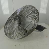 "Patton 1010MP-I ES24 24"" Industrial Wall Mount Fan 120V 1Ph Non Oscillating"