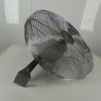 "Patton 1010MP ES24 24"" Industrial Wall Mount Fan 120V 1Ph Non Oscillating"