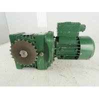 Watt Drive SU 50B 63N4 350:1 4.6RPM 0.18kW 230/440V 3Ph Gear Motor Parts/Repair
