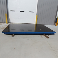 """140""""x89-1/2""""x1-18"""" Steel Machined Surface Fabrication Layout/Machine Table Top"""