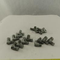 Eaton 7/16-20 (-4) JIC Male X 1/4-18 SAE 90° Elbow Lot Of 16