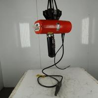 CM L2 Loadstar Electric Chain Hoist 1Ton 5/16FPM 2 Speed 12' Lift 460V W/Trolley