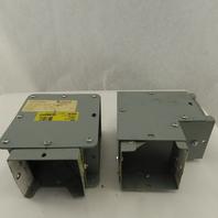 """Hoffman F44G90TX F44G90E 4"""" Wireway Gutter Trough TEE Elbow Modular 90° Lot Of 2"""