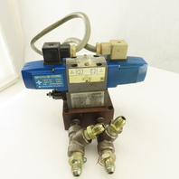 Vickers DG4V-3-2N-U-T-11-JA-S310 2 Position Hydraulic Valve Flow Manifold 100V