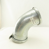 """4"""" Galvanized Quick Fit Duct Work Elbow 45°"""