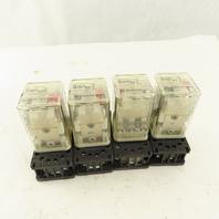 Allen Bradley 700-HA33A1 120VAC Ice Cube Relay And Socket Base Lot Of 4