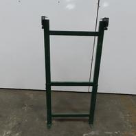 """Dematic Rapistan 25"""" Wide Conveyor Frame Legs 53 to 71"""" Adjustable Height"""
