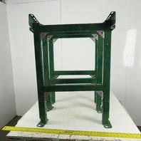 "Dematic Rapistan 25"" Wide Conveyor Frame Legs 36"" to 39"" Adjustable Ht. Lot of 3"