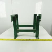 """Dematic Rapistan 19"""" Wide Conveyor Frame Legs 17"""" to 25"""" Adjustable Height Lot/2"""